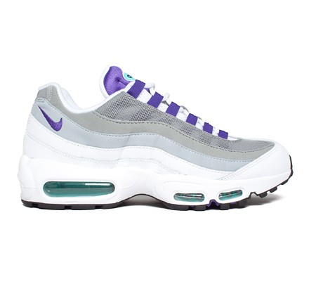 edfc357188 Nike Air Max 95 OG 'Grape' (White/Court Purple-Emerald Green-Wolf Grey) -  Consortium.