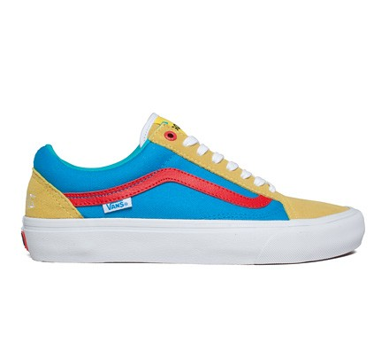 2a69a52aa5ee Vans Old Skool Pro  Golf Wang  (Yellow Blue Red) - Consortium.