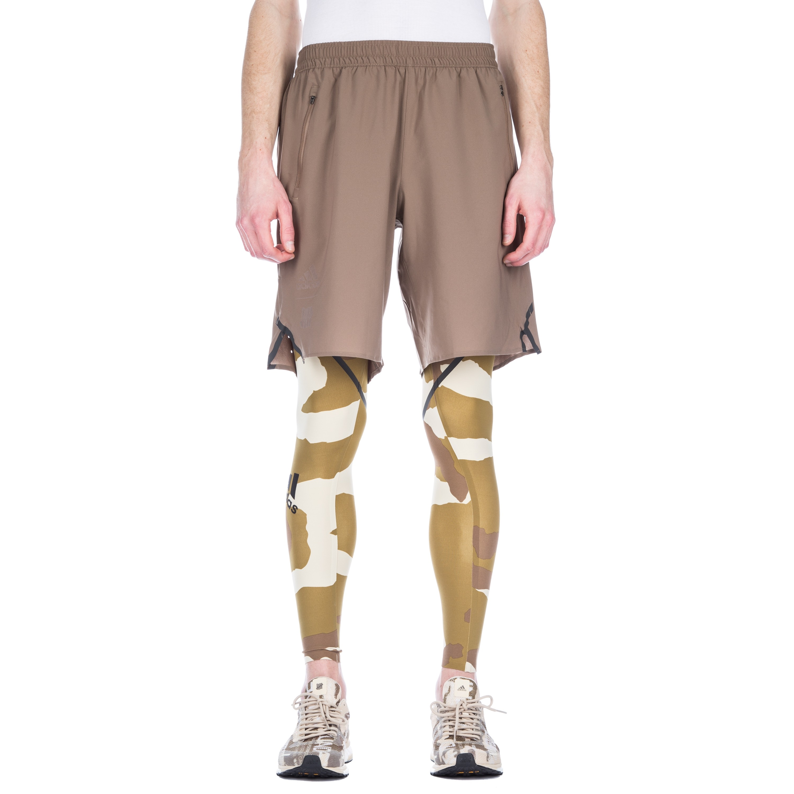 4b5055dadf2a74 adidas by UNDEFEATED Alphaskin 360 Running Tights (Camo) - Consortium