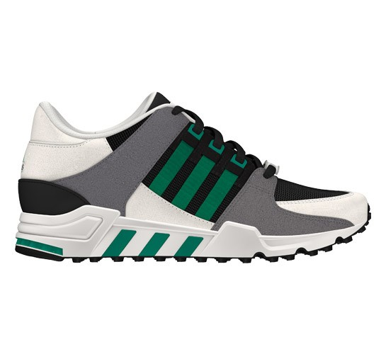 promo code ee463 e64bd Adidas EQT Running Support (Black 1/Sub Green S13/Chalk 2 ...