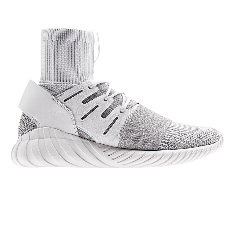 the best attitude 1b8bf 4e3ab adidas Originals Tubular Doom Primeknit (Footwear White/Footwear  White/Clear Grey)