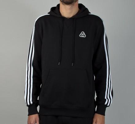 86449bcf1 Adidas x Palace Pullover Hooded Sweatshirt (Black) - Consortium.