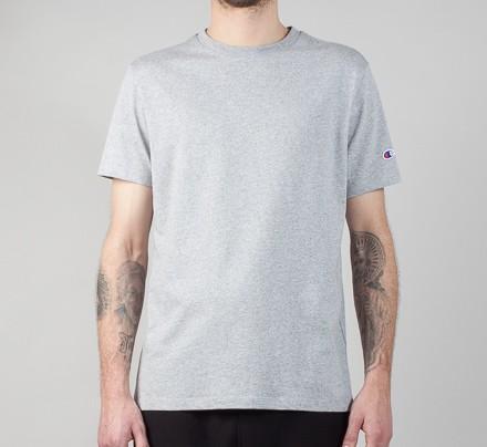 5454c246 Champion Reverse Weave Basic Crew T-Shirt (Heather Grey) - Consortium