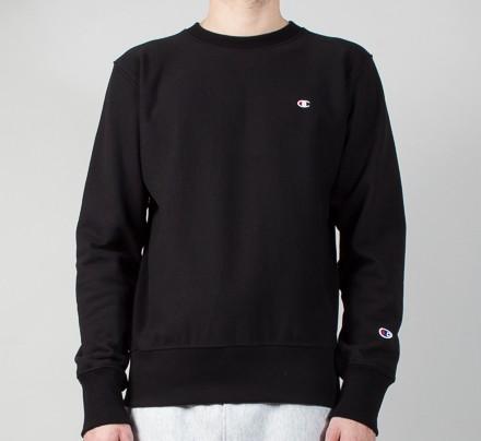 ea1d30d9a1c5 Champion Reverse Weave Small C Crew Neck Sweatshirt (Black) - Consortium.