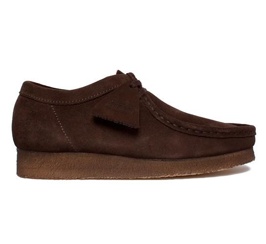 Clarks Originals Wallabee Men Ebony Brown Suede Shoes