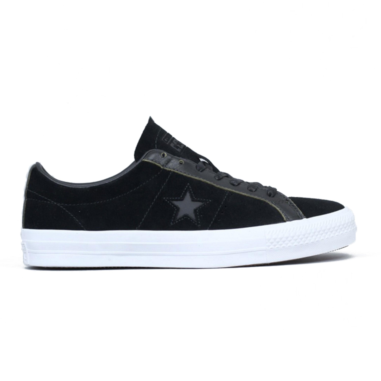 8b5df24b1c86 Converse Cons One Star Pro OX (Black White Black) - Consortium.
