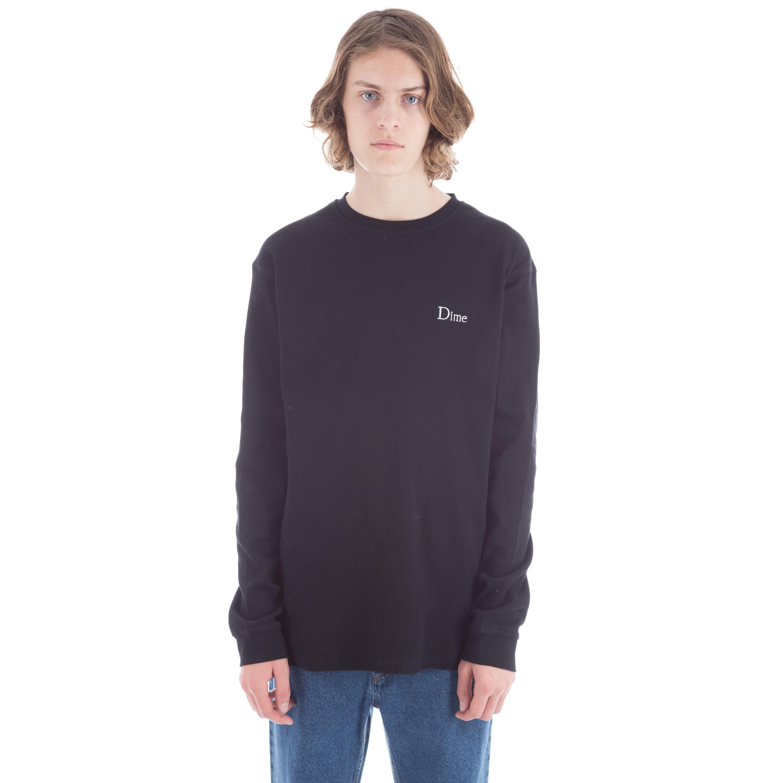 Dime Thermal Long Sleeve Shirt (Black) - Consortium.