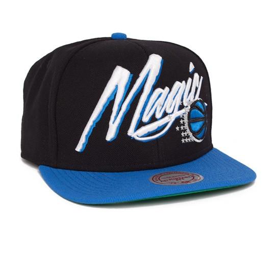 a93057f18 Mitchell & Ness Orlando Magic Vice Script Snapback Cap (Black/Royal ...