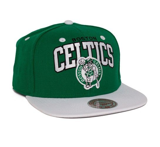 outlet store 193b1 a27f6 Mitchell   Ness Boston Celtics Team Arch With Logo Snapback Cap  (Green White) - Consortium.
