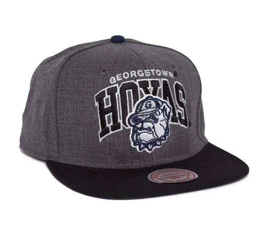 online retailer 526b7 c9fdb Mitchell   Ness Georgetown Hoyas Team Arch With Logo Snapback Cap (Heather  Grey Black) - Consortium.