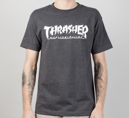 395f79fb7240 HUF X Thrasher Asia Tour T-Shirt (Charcoal Heather) - Consortium.