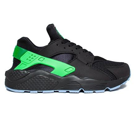 the best attitude 18567 547e9 Nike Air Huarache Run FB (Black/Poison Green-Aluminum) - Consortium