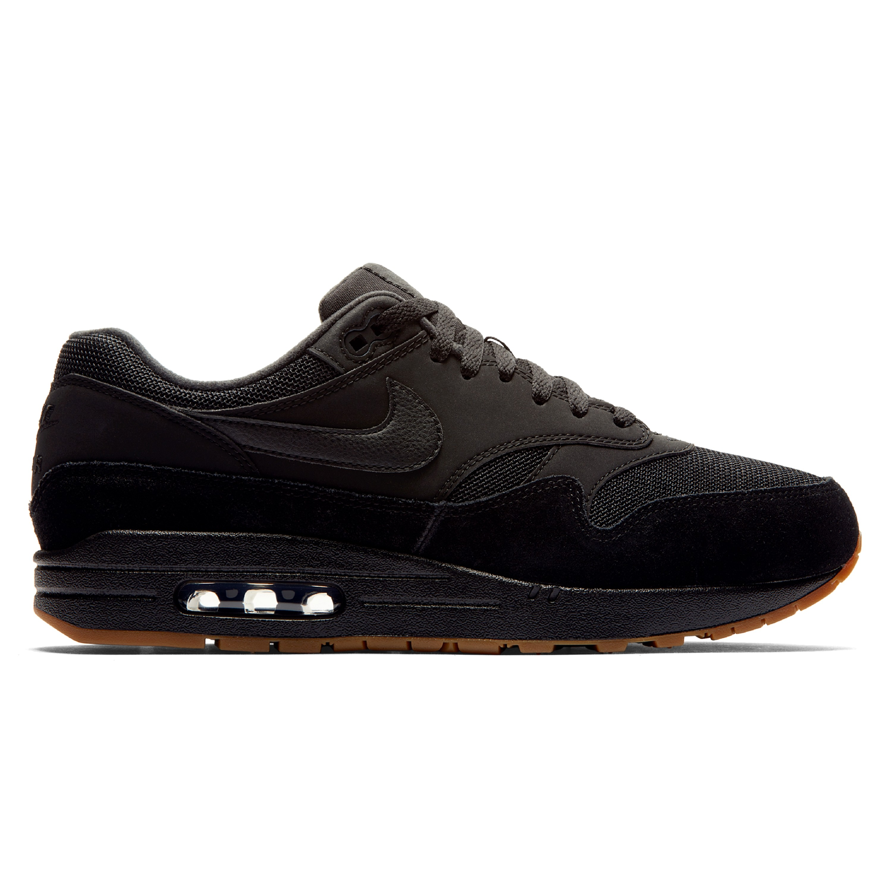 c9d7d63bb375 Nike Air Max 1  Gum Pack  (Black Black-Black-Gum Medium Brown ...