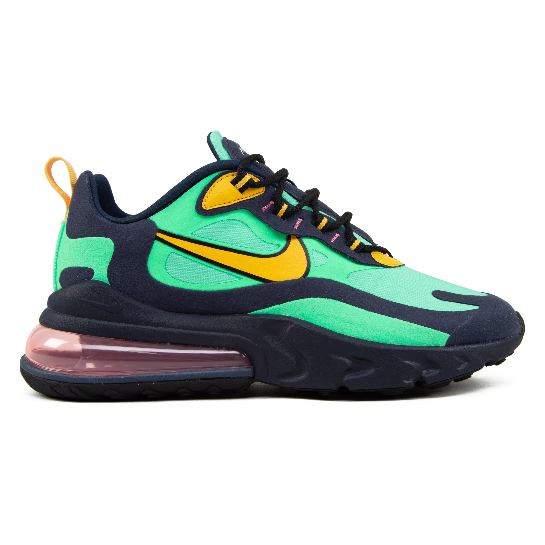 Nike Air Max 270 React (POP ART) Electro GreenYellow Ochre Obsidian scarpe