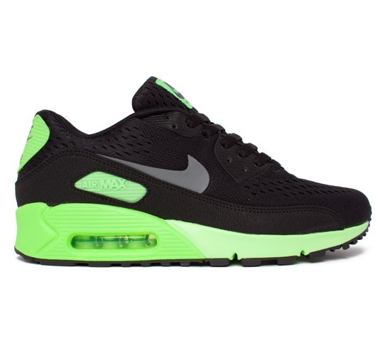 size 40 a4383 35849 Nike Air Max 90 Premium Comfort EM (Black Dark Grey-Flash Lime) -  Consortium.