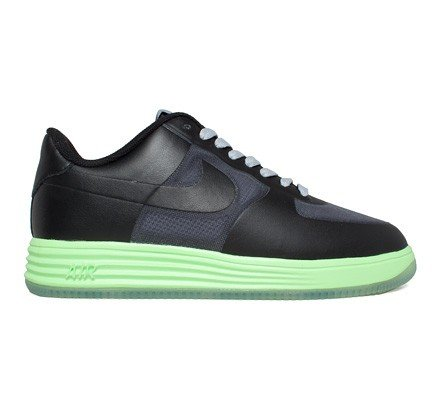 newest c64ee a3d2e Nike Lunar Force 1 Fuse Leather (Dark Grey Black-Flash Lime) - Consortium