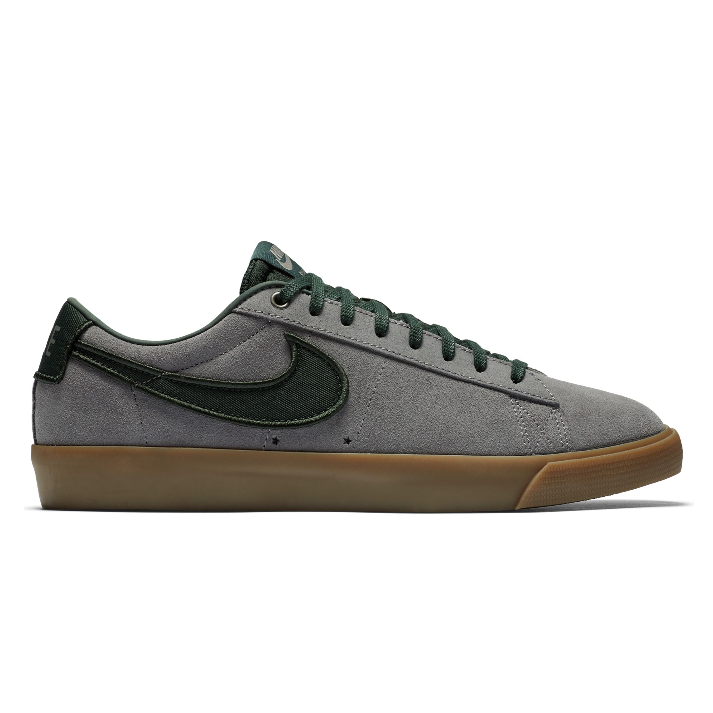 purchase cheap 40988 18737 Nike SB Blazer Low Grant Taylor Loud Pack (Gunsmoke/Black Spruce-Gum Light  Brown)