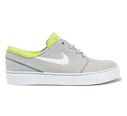 separation shoes d401a aa957 Nike SB Stefan Janoski GS (Base Grey White-Venom Green) - Consortium.