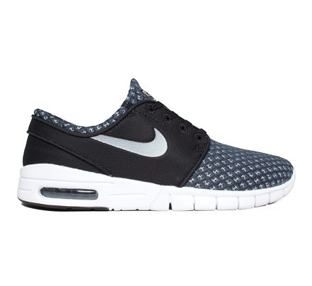 new product b95f3 7d058 Nike SB Stefan Janoski Max (Black Metallic Cool Grey-White) - Consortium