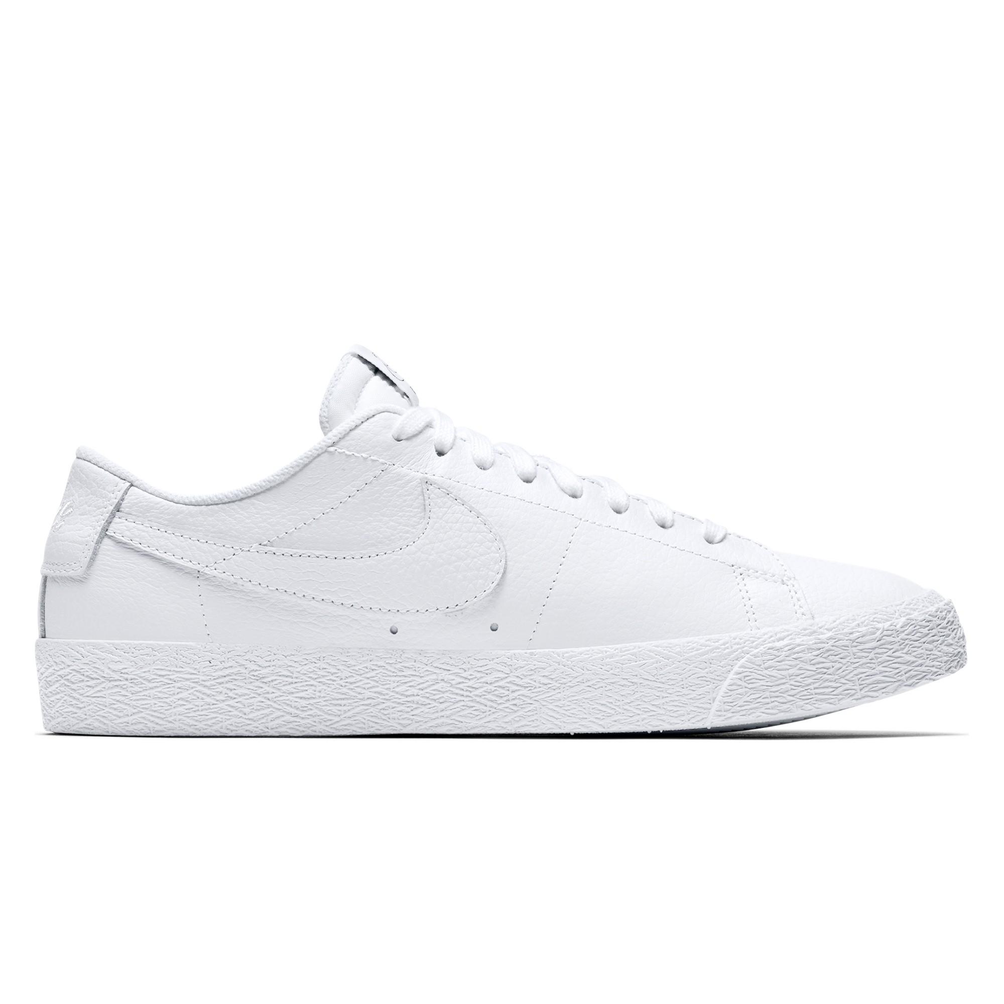 check out 057e3 1850e Nike SB x NBA Zoom Blazer Low (White/White-Rush Blue-University Red)