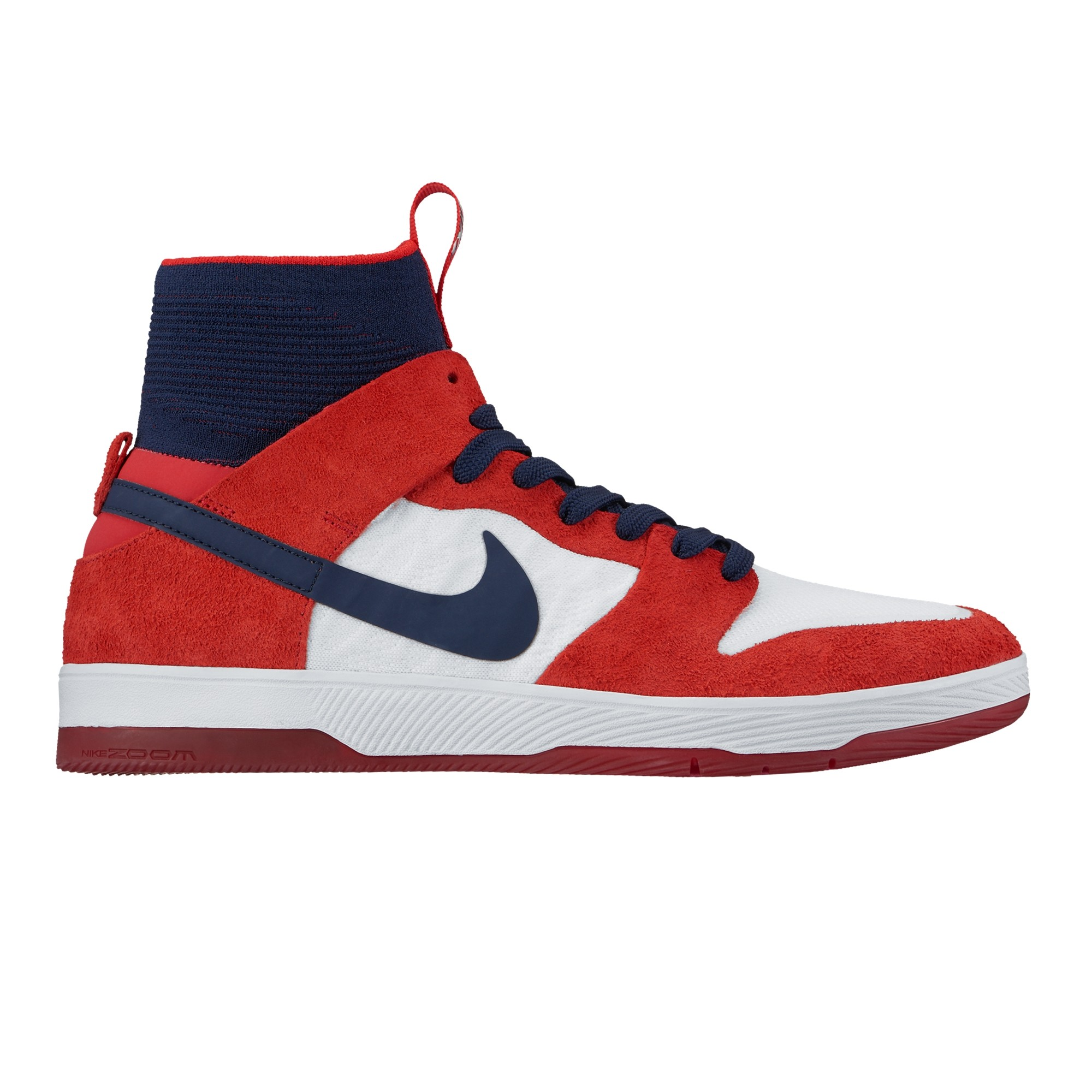 0e6063577bcf Nike SB Zoom Dunk High Elite (University Red College Navy-White ...