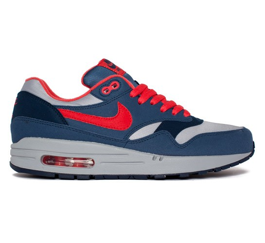 save off 58bb9 ffcdc Nike Air Max 1 (Wolf Grey Sunburst-Utility Blue-Light Midnight) -  Consortium.