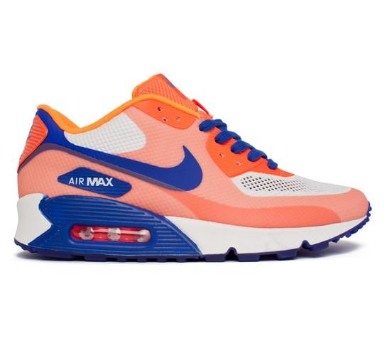 nike air max 90 hyperfuse orange blue