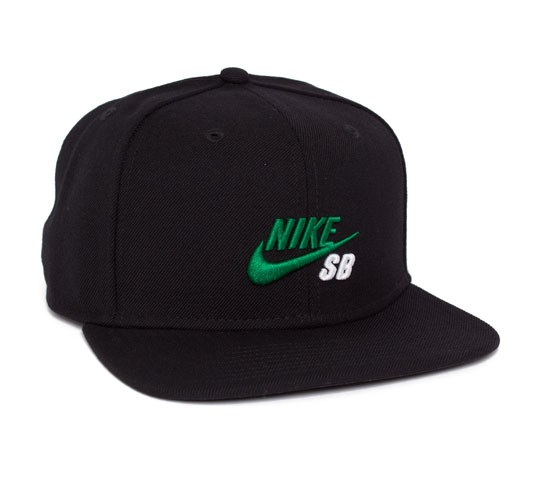 d7f899b7ad9 Nike SB Icon Snapback Cap (Black Pine Green White) - Consortium.