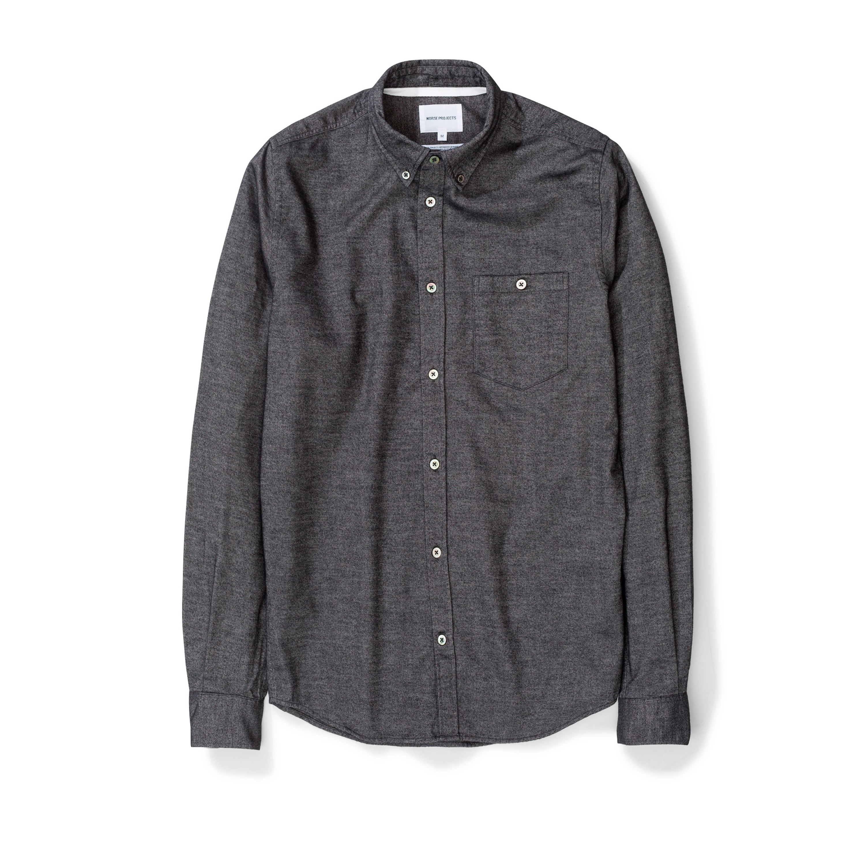 94f9258bfdc Norse Projects Anton Brushed Flannel Shirt (Magnet Grey) - N40-0467 ...
