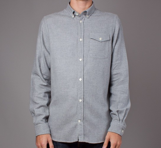 520a70fbdd2 Norse Projects Anton Brushed Shirt (Concrete Grey) - Consortium.