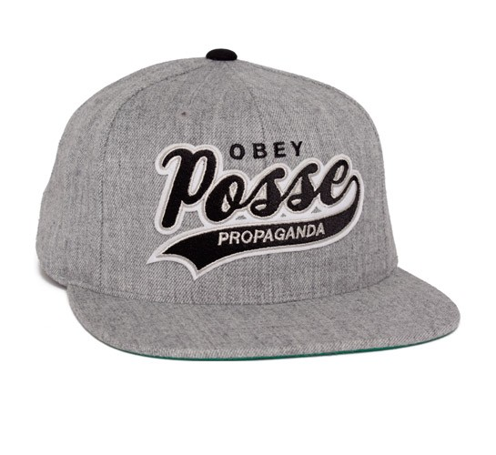 1820144b5f0 Obey On Deck Snapback Cap (Heather Grey) - Consortium.
