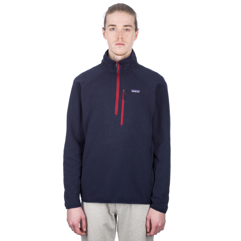 Patagonia Performance Better Sweater 1/4 Zip Fleece (Navy Blue)