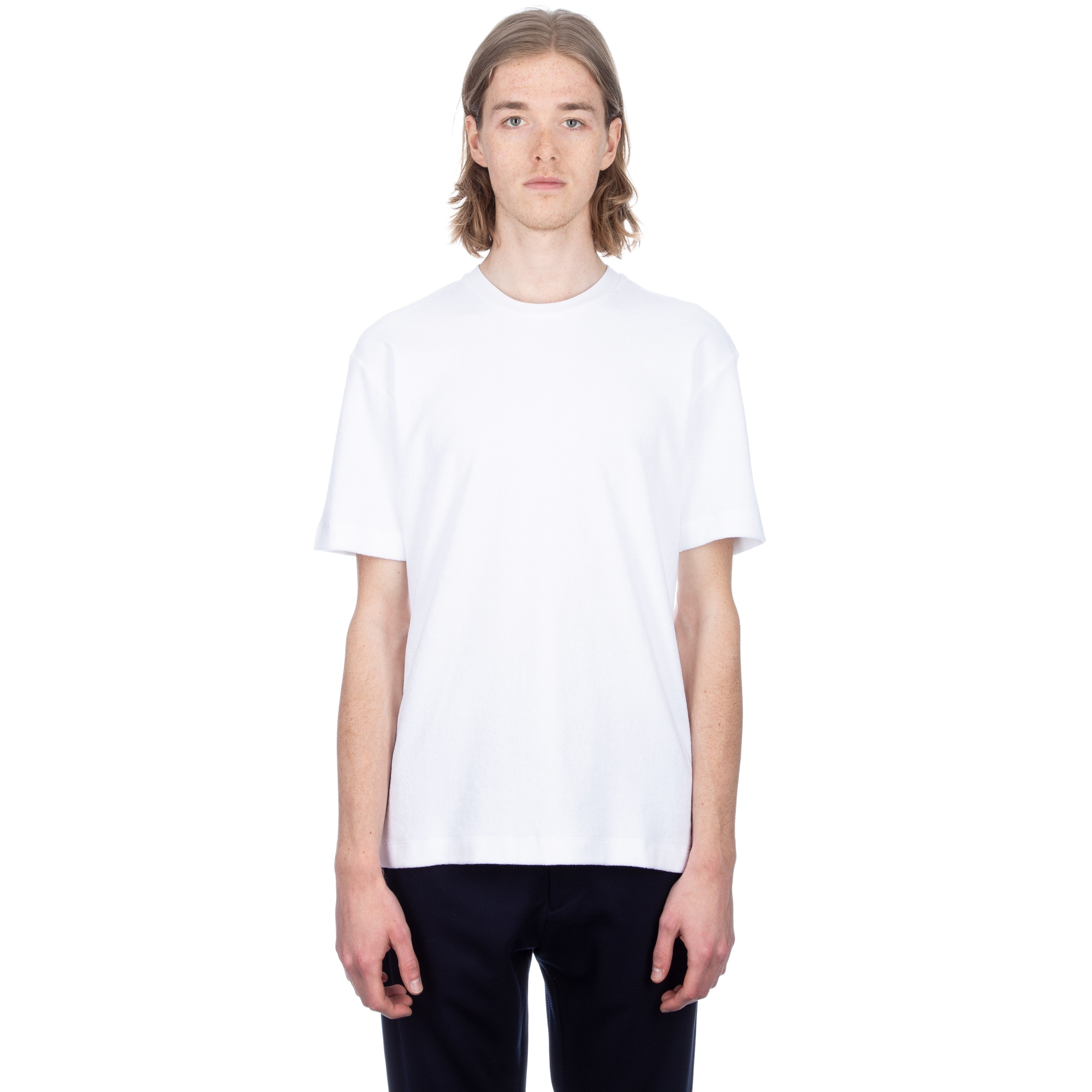 20c655a0f5eb8 Sunspel Cotton Towelling Relaxed Fit T-Shirt (White) - Consortium.