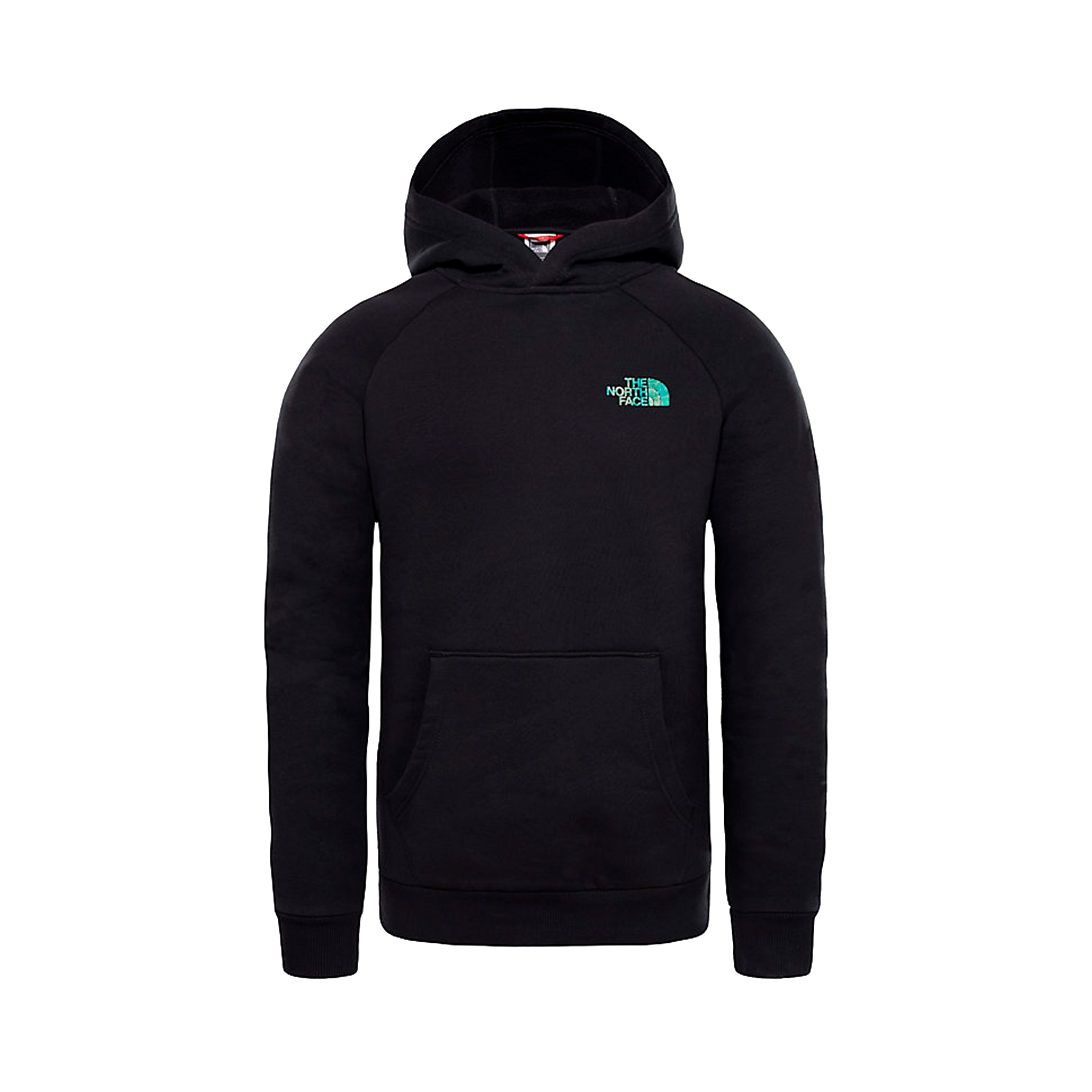 96bde5fc4 The North Face Red Box Raglan Pullover Hooded Sweatshirt 'Iridescent  Collection' (TNF Black/Iridescent Multi)