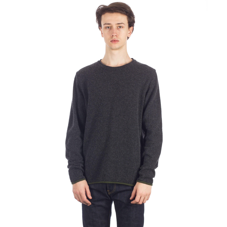 Universal Works Soft Wool Crew Neck Sweatshirt (Charcoal) - Consortium. 5f0c5bd10