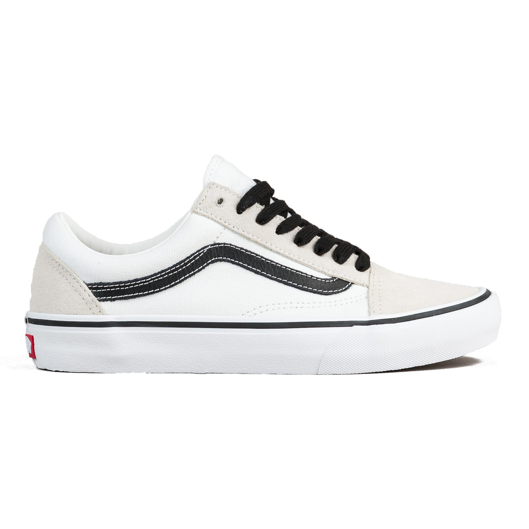Vans Old Skool Pro 50th Anniversary White  u0026 Black Skate Shoes  e9d531c6d