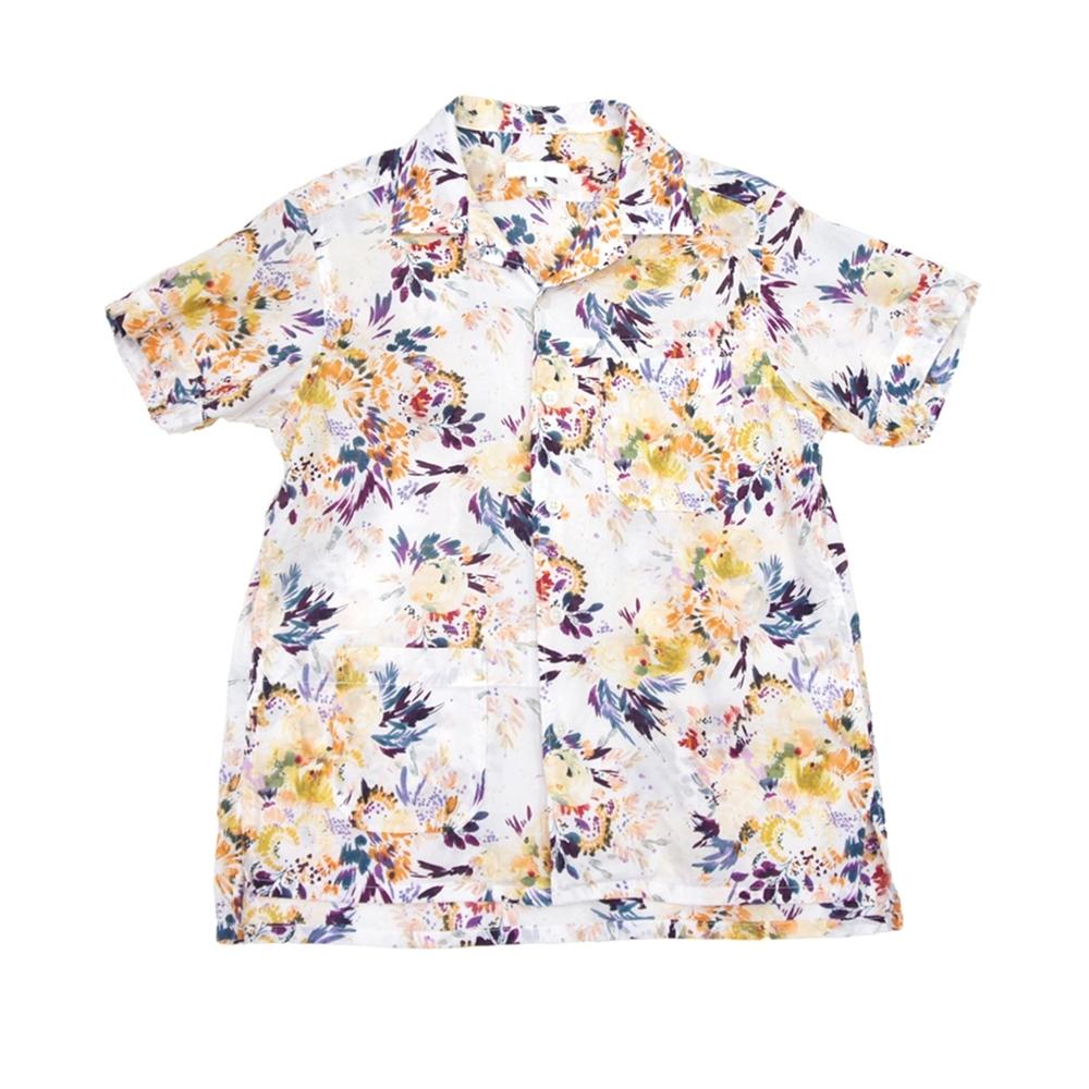 Engineered Garments Camp Shirt (White Botany Printed Lawn)