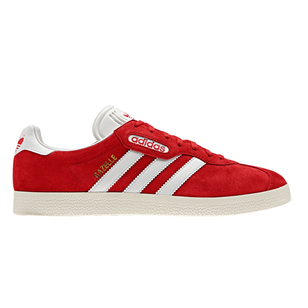 adidas Originals Gazelle Super (Red/Vintage White/Gold Metallic)
