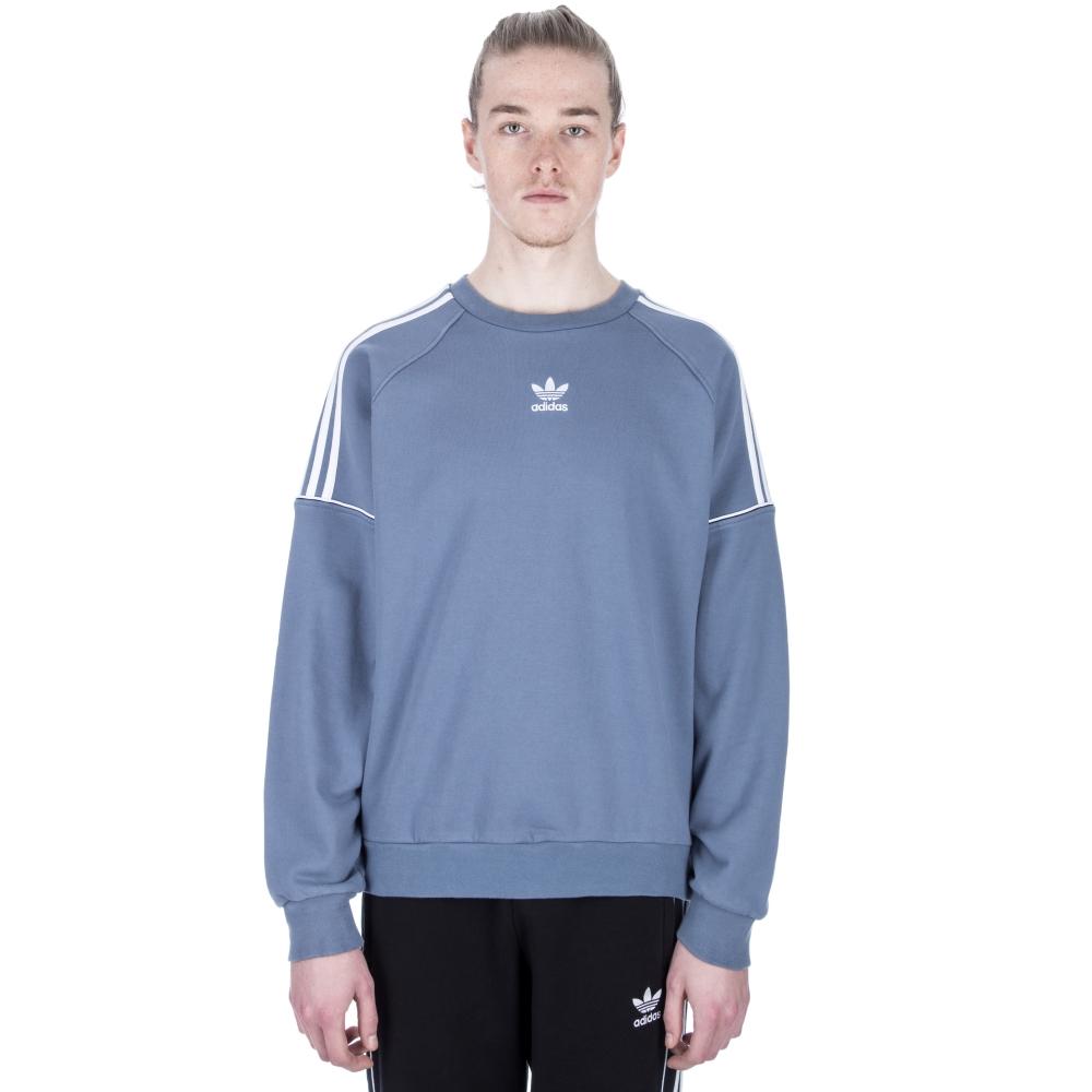 adidas Originals Pipe Crew Neck Sweatshirt (Raw Steel White ... 22f187895