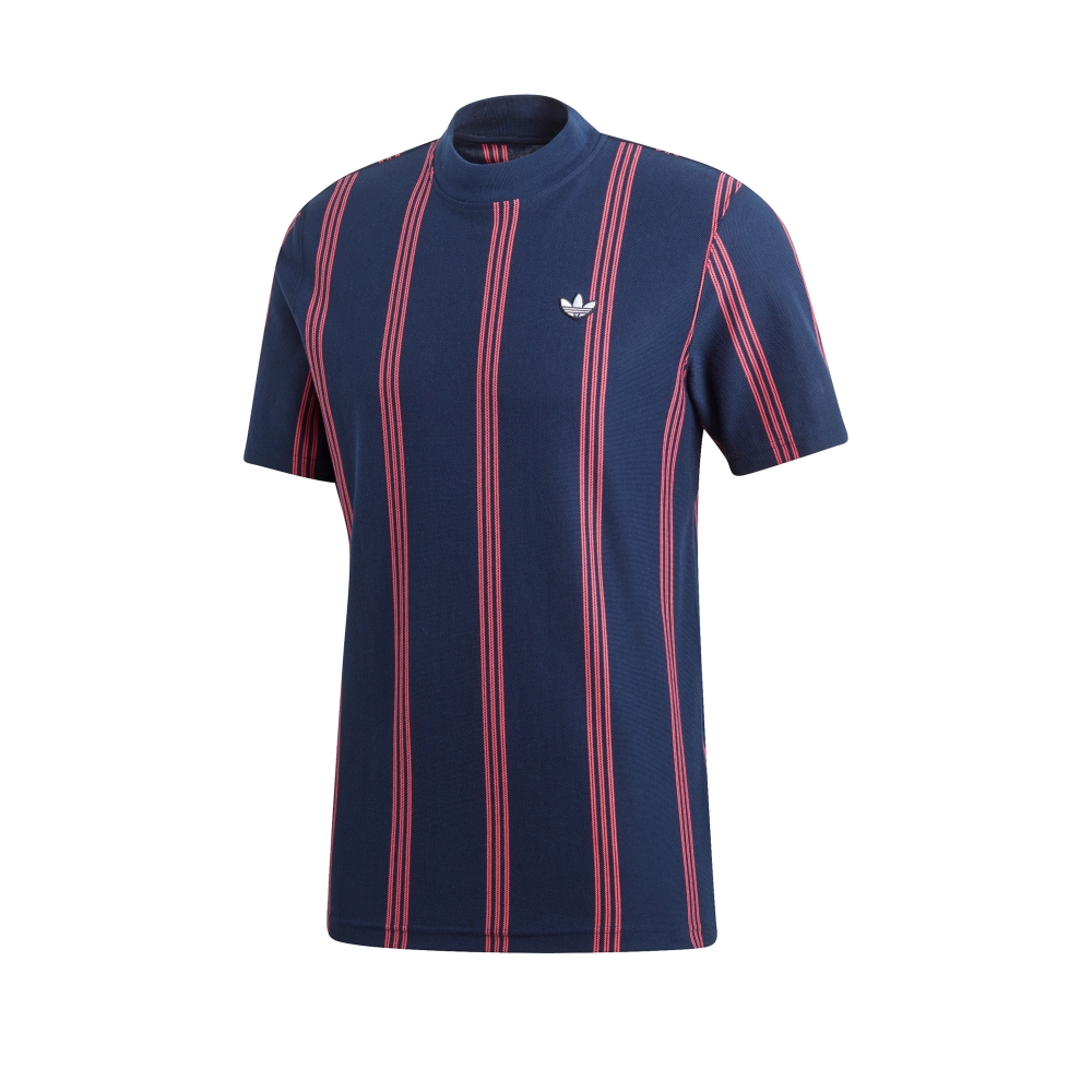 adidas Originals Stand Collar T-Shirt (Night Indigo)