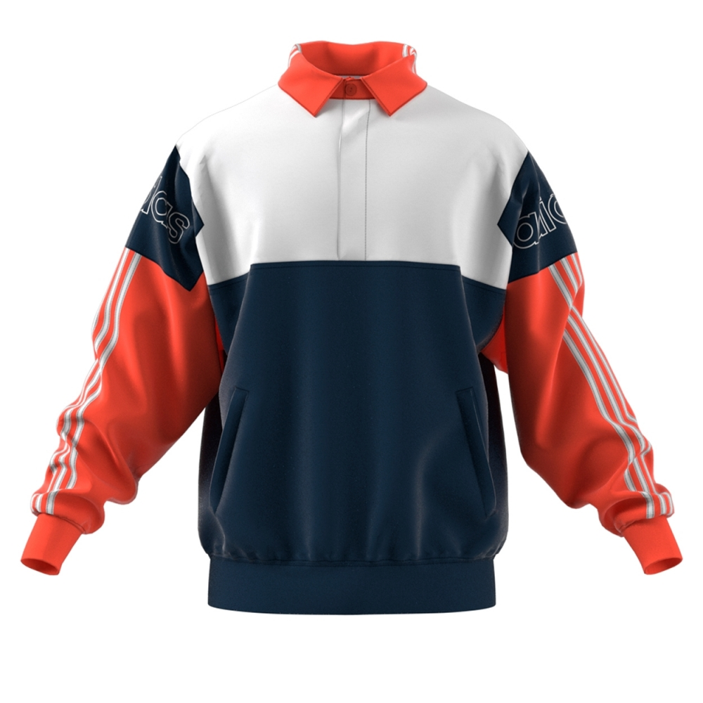 adidas Originals Tourney Rugby Sweatshirt (Collegiate Navy/Raw Amber)