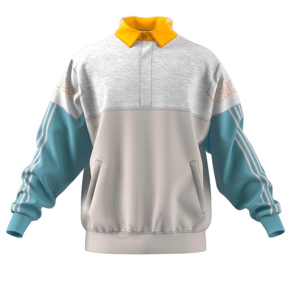 adidas Originals Tourney Rugby Sweatshirt (Raw White/Ash Grey)