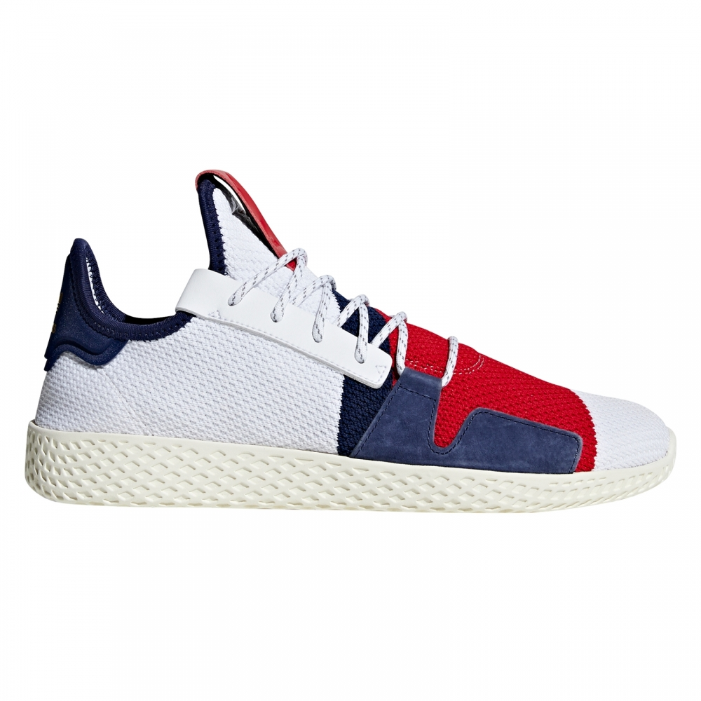 adidas Originals x Billionaire Boys Club Hu V2 (Footwear White/Scarlet/Dark Blue)