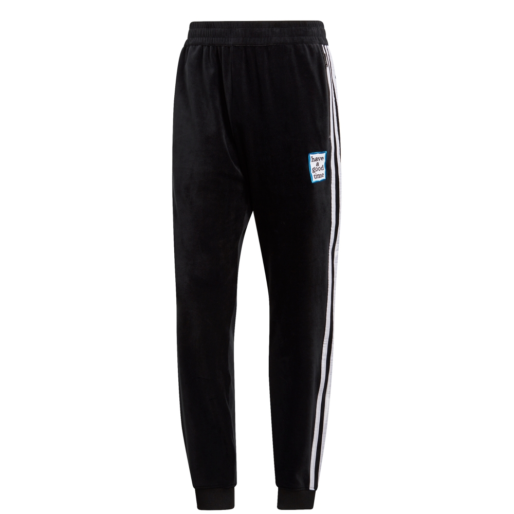 1ebbd867ef9 adidas Originals x have a good time Velour Track Pant (Black ...