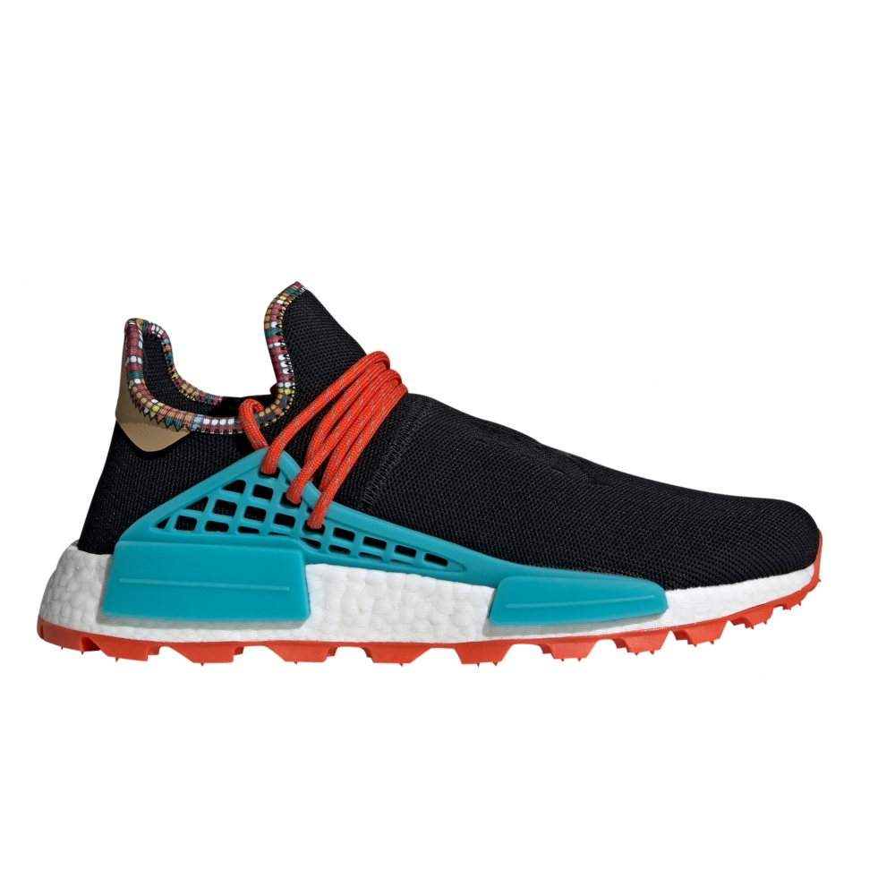 adidas Originals x Pharrell Williams SOLARHU NMD 'Inspiration Pack' (Core Black/Clear Blue/Collegiate Orange)