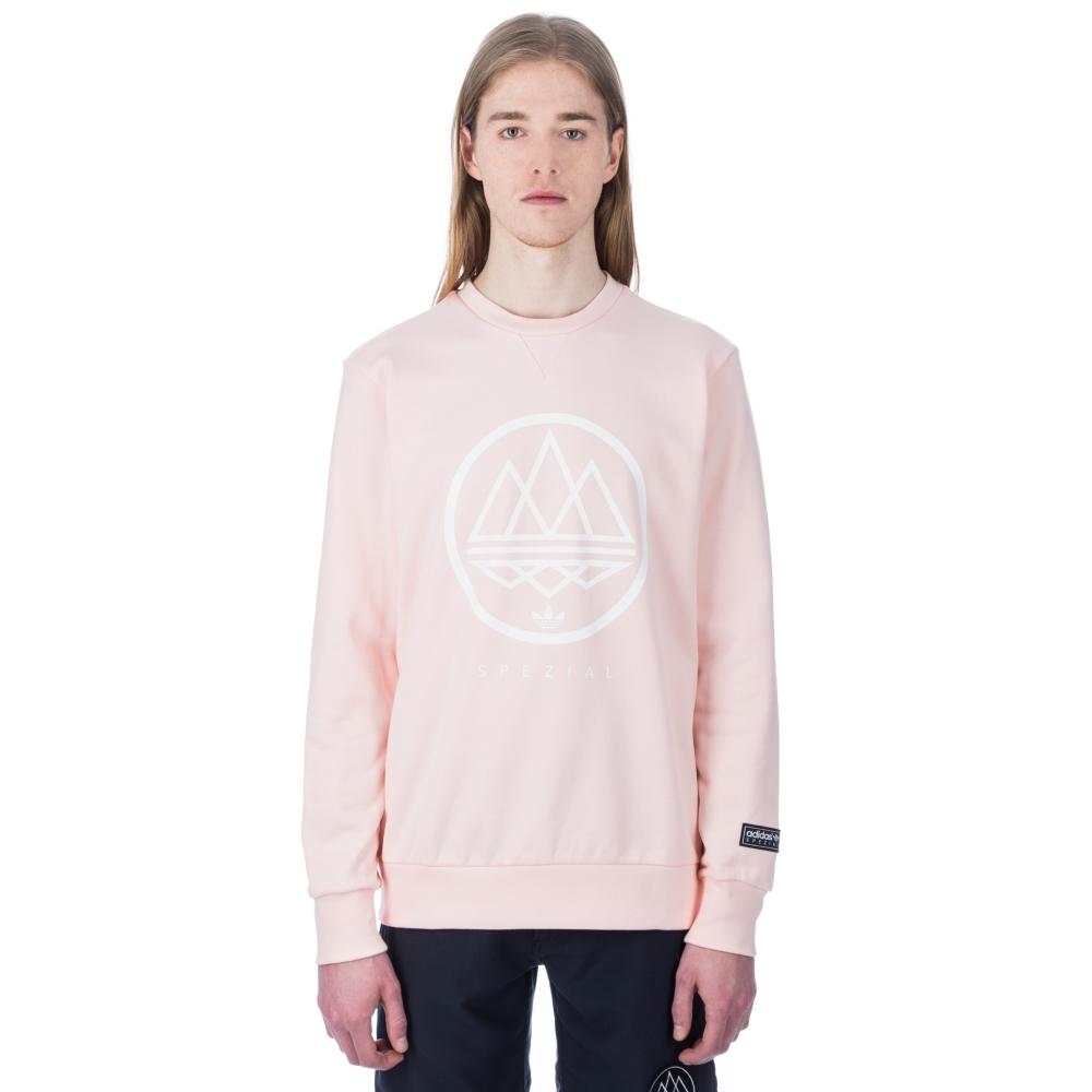 adidas Originals x SPEZIAL Mod Trefoil Crew Neck Sweatshirt (Icey Pink)