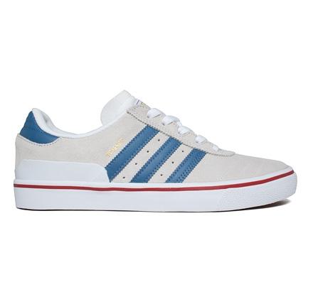 Adidas Skateboarding Busenitz Vulc (Footwear White/Ash Blue/Power Red)