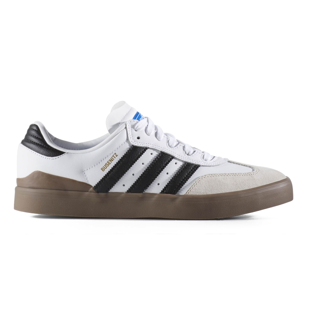 adidas Skateboarding Busenitz Vulc Samba Edition (Footwear White/Core Black /Bluebird)