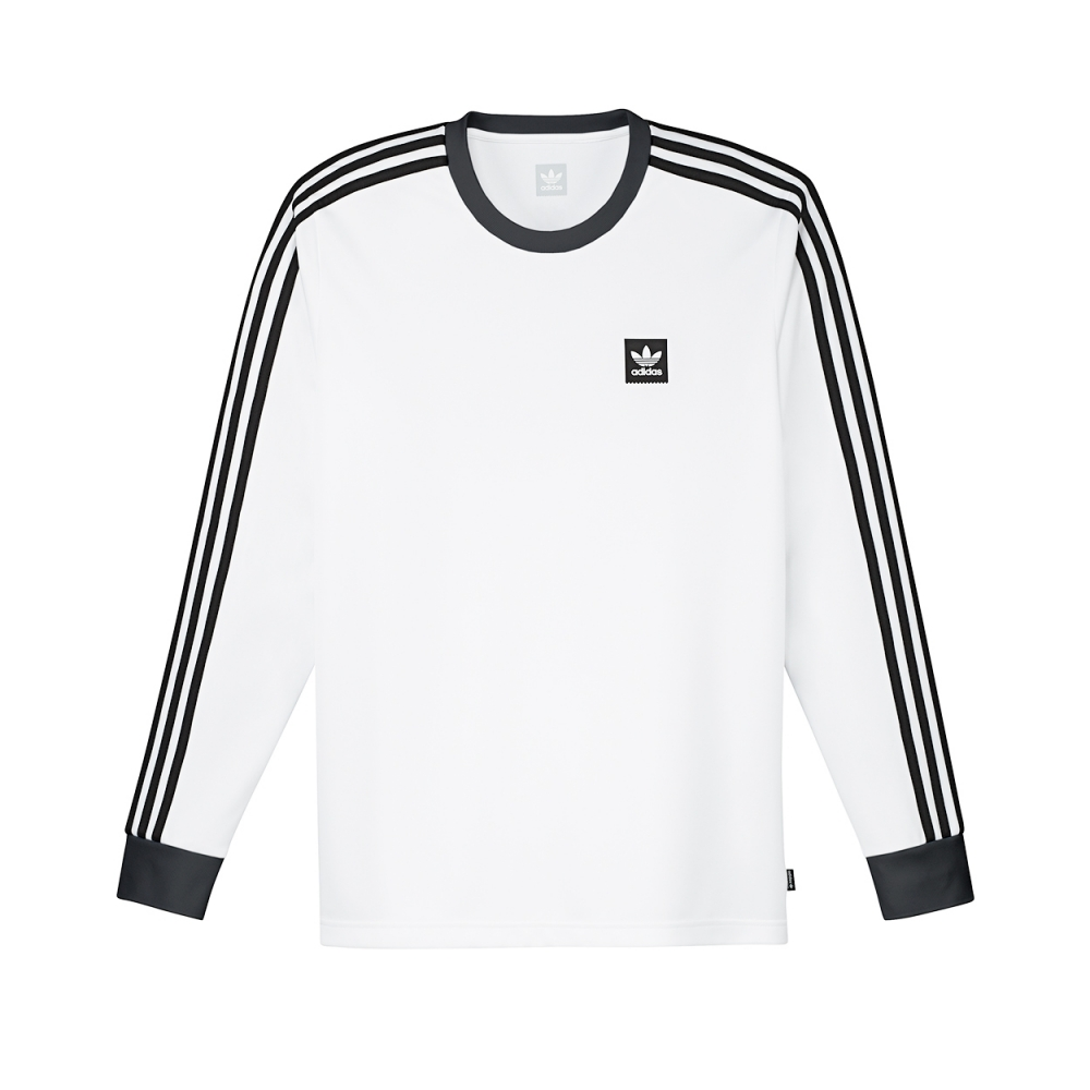 timeless design 5a8e8 588bb adidas Skateboarding Club Long Sleeve Jersey (White Black)