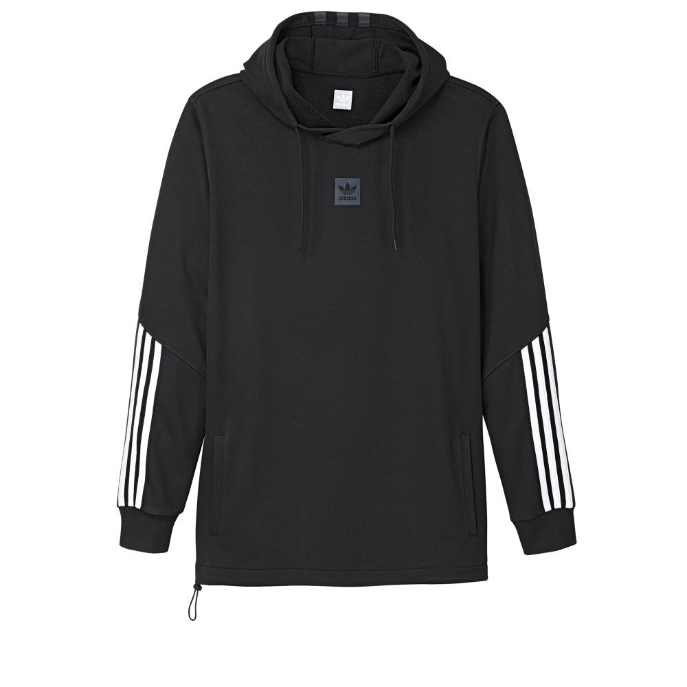 adidas Skateboarding Cornered Pullover Hooded Sweatshirt (Black/White/Black Reflective)